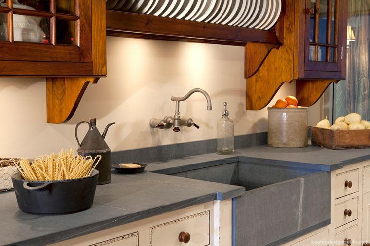 Arbeitsplatte Küche Schiefer arbeitsplatte küche schiefer hellgrau farben naturstein optik #küche