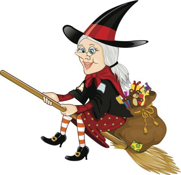 Bruja Befana Witch Illustration Art