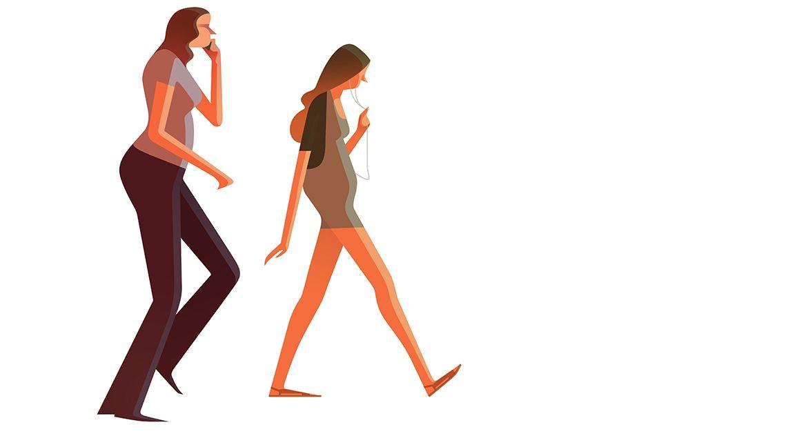 """다음 @Behance 프로젝트 확인: """"People walking with Cell phones"""" https://www.behance.net/gallery/37980059/People-walking-with-Cell-phones"""