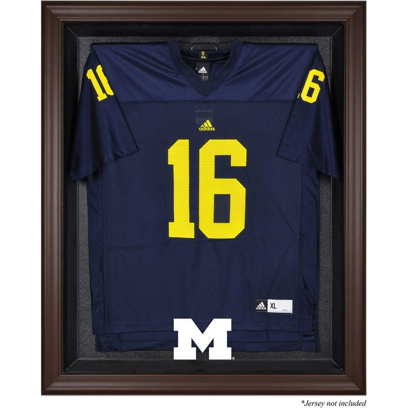buy online a94d1 35f5d Michigan Wolverines Fanatics Authentic Brown Framed Logo ...