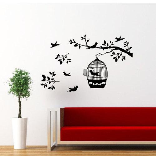 Birds Cage Wall Painting Interior Ideas Vinyl Wall Art Vinyl