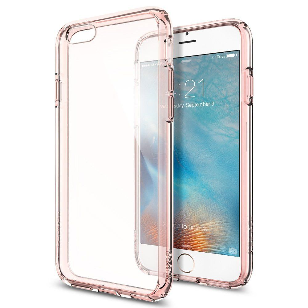 competitive price e4e3a 6feee The Rose Gold and Clear Ultra Hybrid Bumper iPhone 6/6s Case | Cases ...