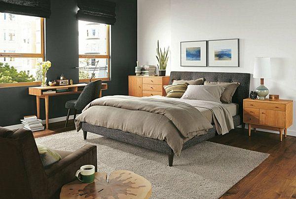 Schicke, schwarze Schlafzimmermöbel - eleganter Charme Room - Schreibtisch Im Schlafzimmer