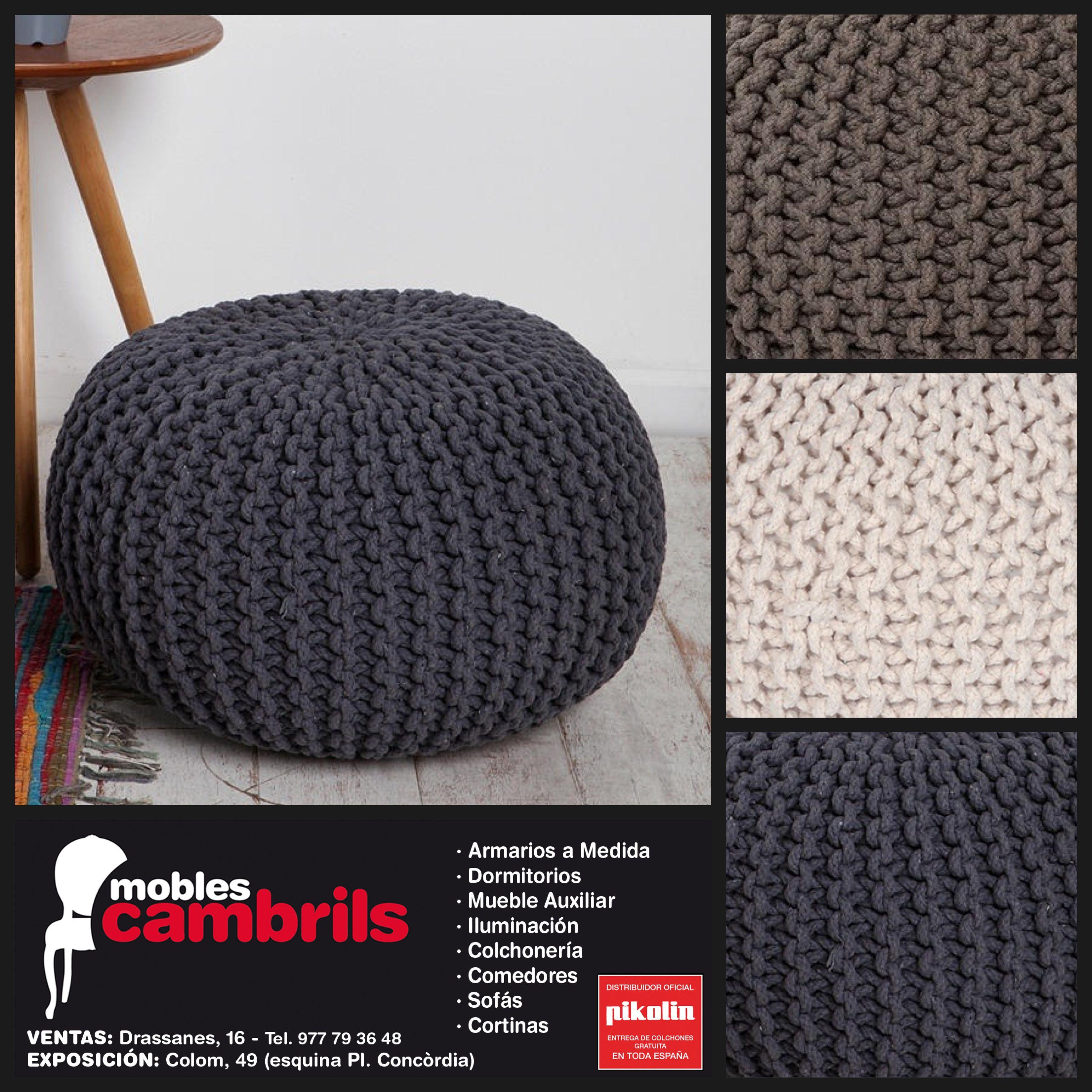 #pouf en #crochet de #algodón lo último en tendencia #deco, disponibles en distintos tamaños y colores en tu #tiendademuebles amiga #moblescambrils #botigademobles #decoración en #cambrils #tarragona #igerscambrils #igerstgn #EstiloNordiko