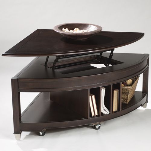 Lift Top Coffee Table Hardware Canada: Quarter Round Lift Top Cocktail Table.