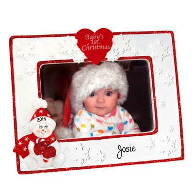 Personalized Baby\'s First Christmas Photo Frame | Personalized baby ...