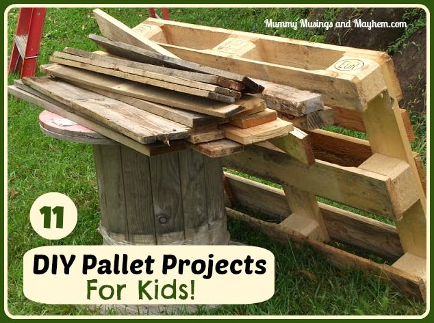 DIY Recycled Pallet Projects for Kids   The mud, The kid ...