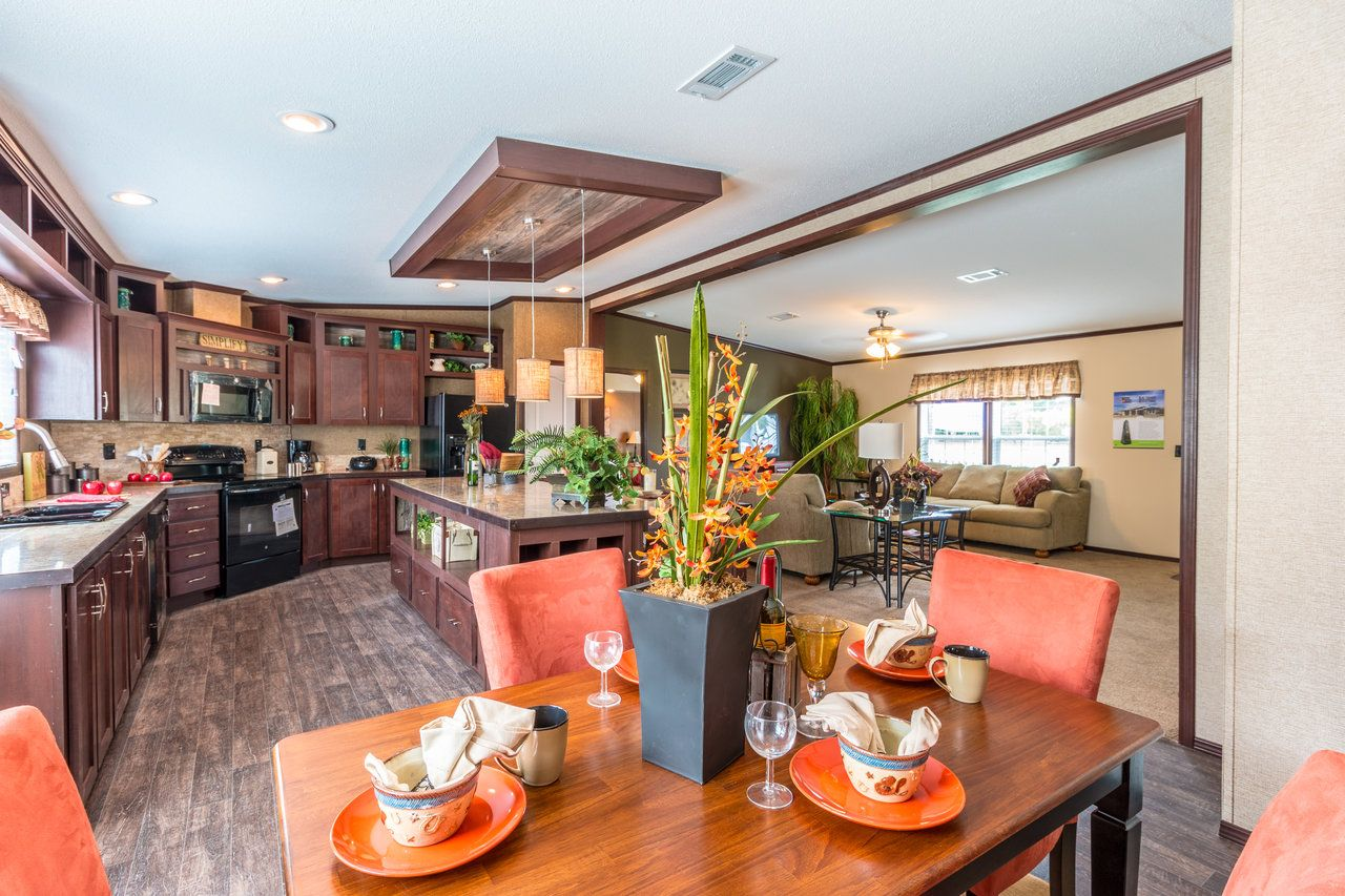 Home Floor And Kitchens Beautiful Dining Area And Kitchen In The Homerun Model Home By