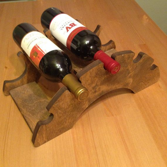 Birch Wood Wine Rack Holds Most Popular Wine Bottle Sizes Unique