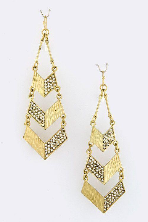 {Tiered Point Fancy Earrings}