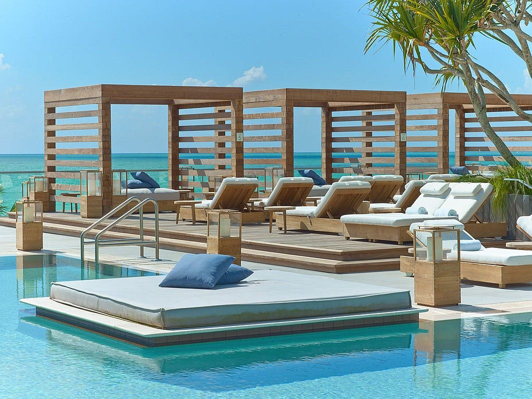 You Re The One 1 Hotel S Miami Beach Debut By Meyer Davis Studio Pool Cabana Hotel Pool South Beach Hotels
