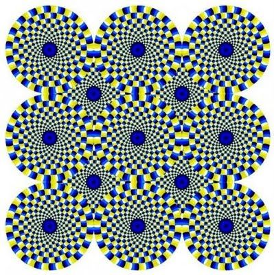 (open pic) None of the circles are actually moving, it's your eyes playing tricks on you!