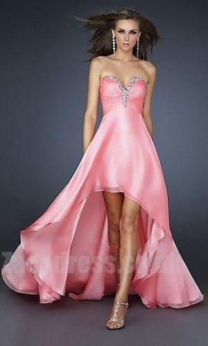 Pink Cheap La Femme 17585 Natural Prom Dresses