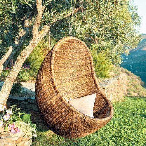 poltrona sospesa da giardino in rattan outdoor pinterest giardino. Black Bedroom Furniture Sets. Home Design Ideas