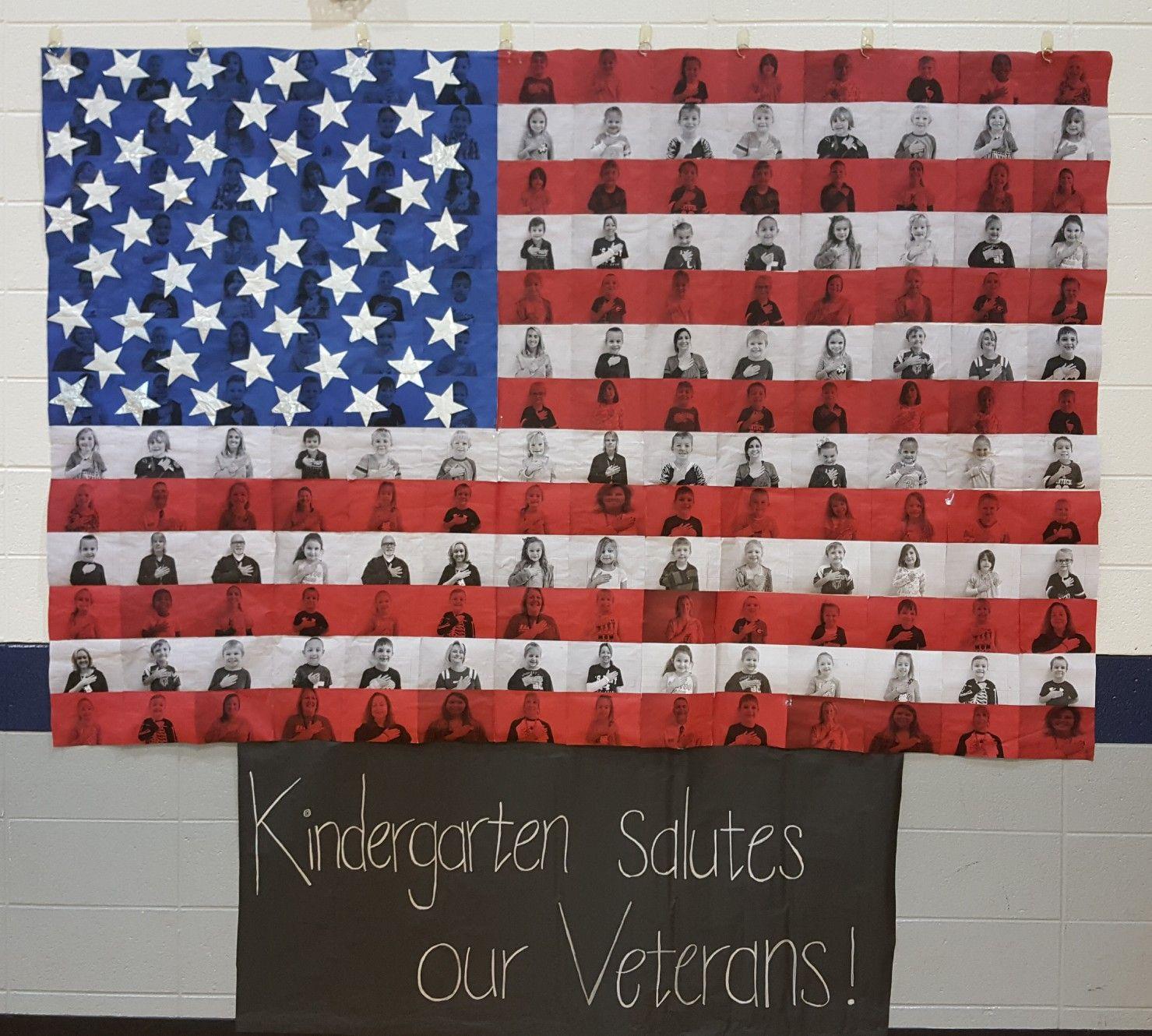 Flag Banner I Made For Veteran S Day Kindergarten