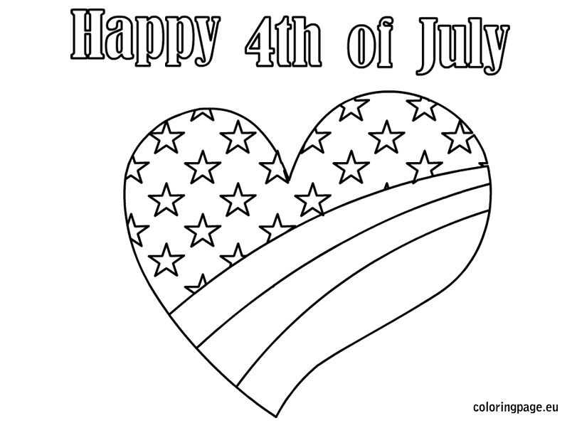 Pinned from site directly heart happy 4th of for Flag heart coloring page