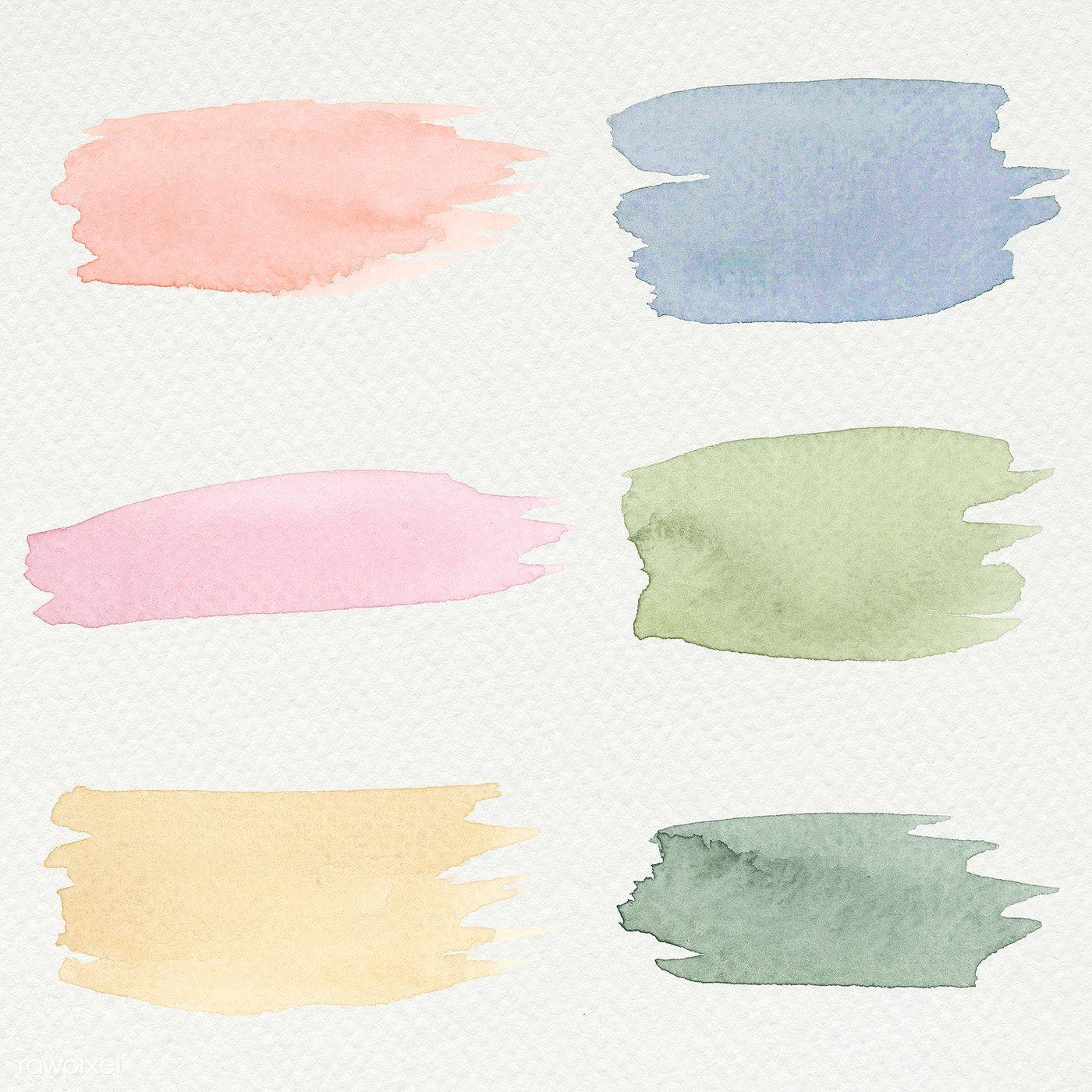 Download Premium Illustration Of Colorful Watercolor Brush Strokes In 2020 Watercolor Brushes Watercolor Splash Png Watercolor Splash