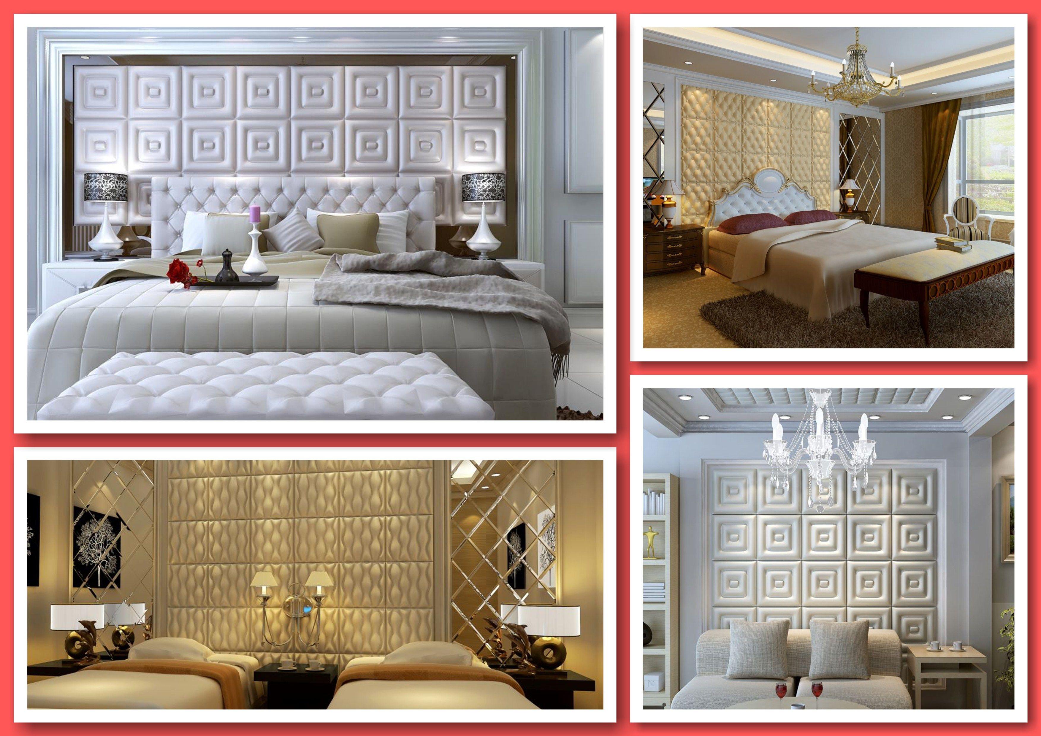 Faux Leather Tile Bedroom Accent Walls | Ceiling Tile ...