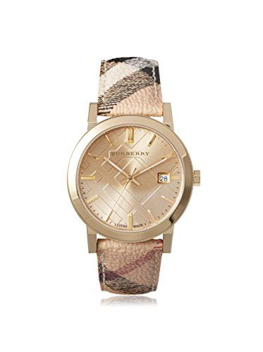 Women S Wrist Watches Burberry The City Champagne Dial Haymarket Check Strap Uni Watch Bu9026 Want To Know More Click On Image