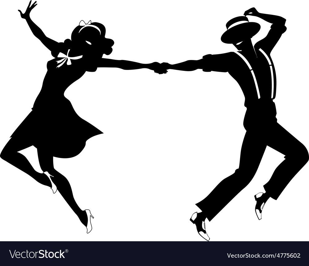 Download Silhouette of a couple dancing vector image on | Dancing ...