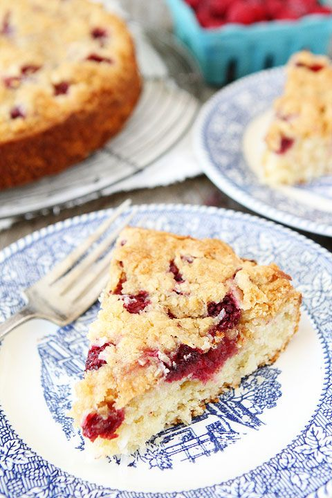 Raspberry Coconut Cake with Coconut Streusel Recipe