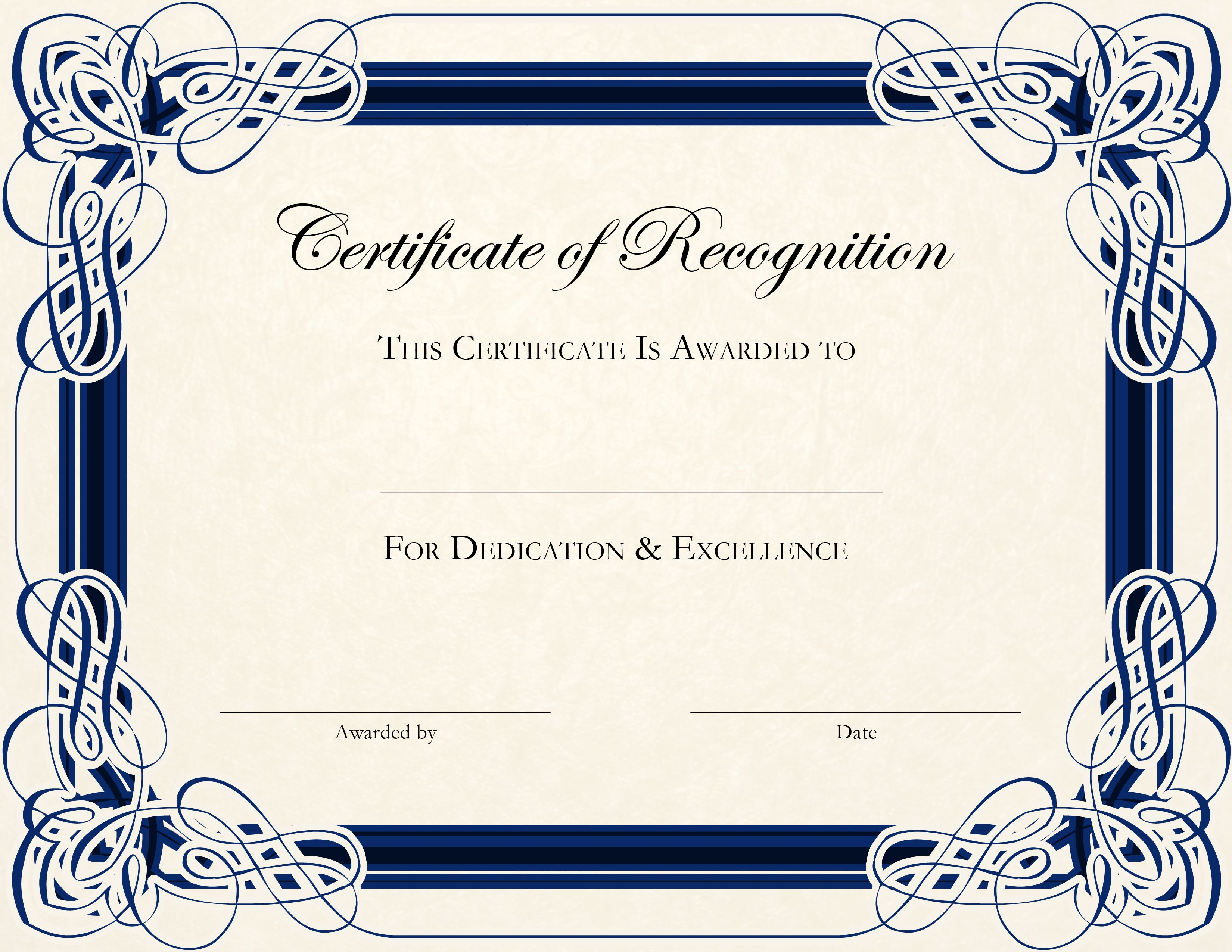 Certificate Template Designs Recognition Docs Blankets Pinterest