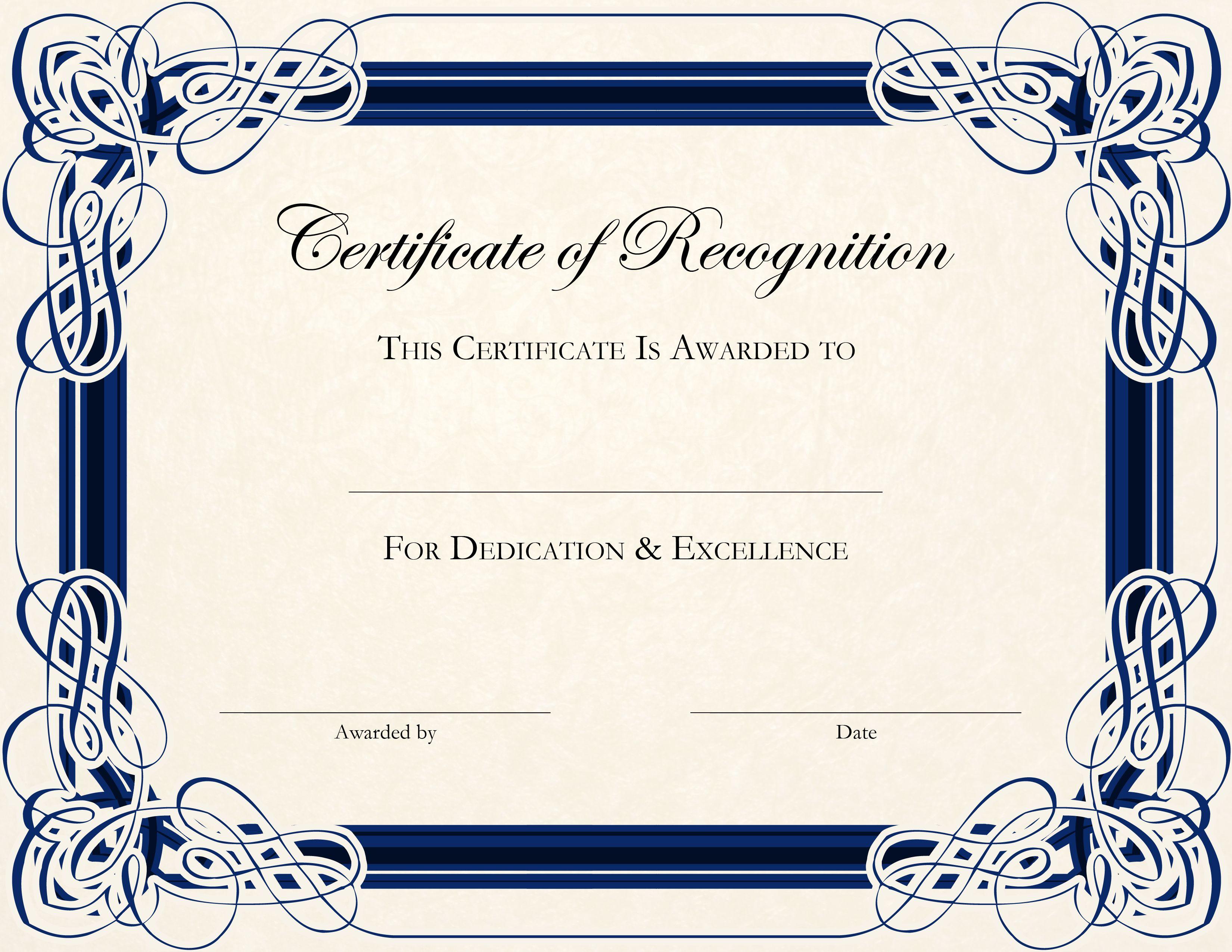 Certificate Template Designs Recognition Docs Certificate Of Recognition Template Graduation Certificate Template Free Certificate Templates