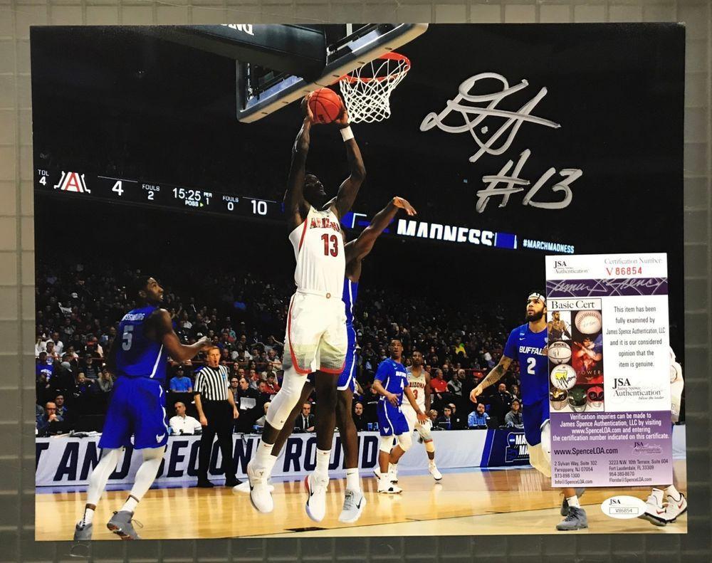 DeAndre Ayton Signed 11x14 Photo Autographed AUTO JSA COA Arizona Wildcats   Basketball 308432757