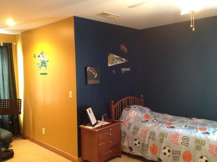 Notre Dame Themed Boys Room Football Rooms Home