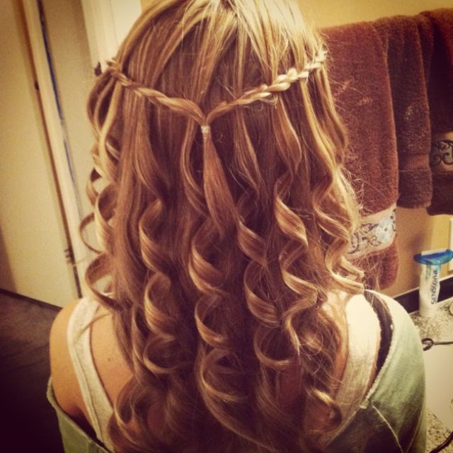 Cute waterfall braid make me pretty pinterest hair style cute waterfall braid ccuart Images