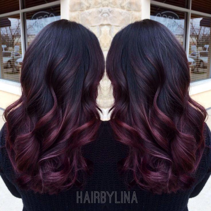 Burgundy ombre on instagram mirror mirror onthewall hair brows pinterest mirror mirror - Ombre hair marron ...