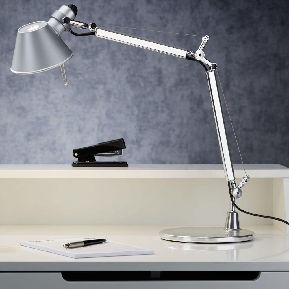 Tischleuchte Artemide Tolomeo Micro Aluminium E14 Artemide A011800 In 2020 Lampentisch Tischleuchte Schreibtischlampe