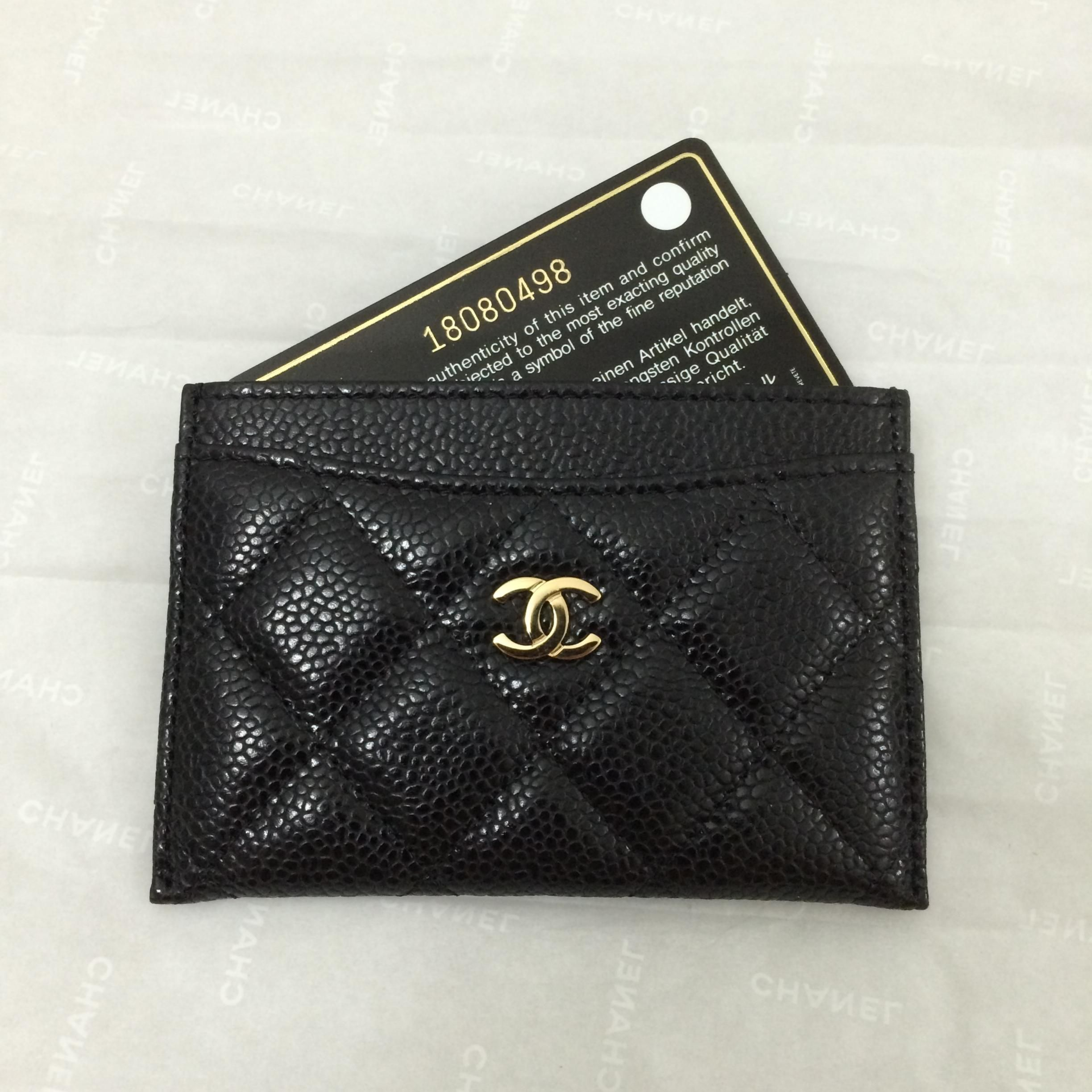 7a9151a4453cb9 Chanel card holder | pretty little leather | Chanel card holder, Bag ...