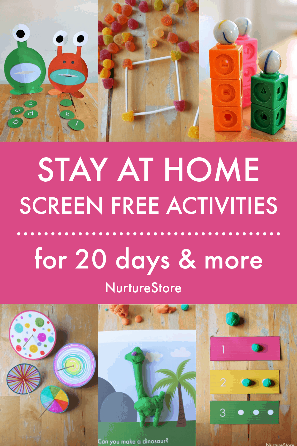 Stay at home screen free activities for children