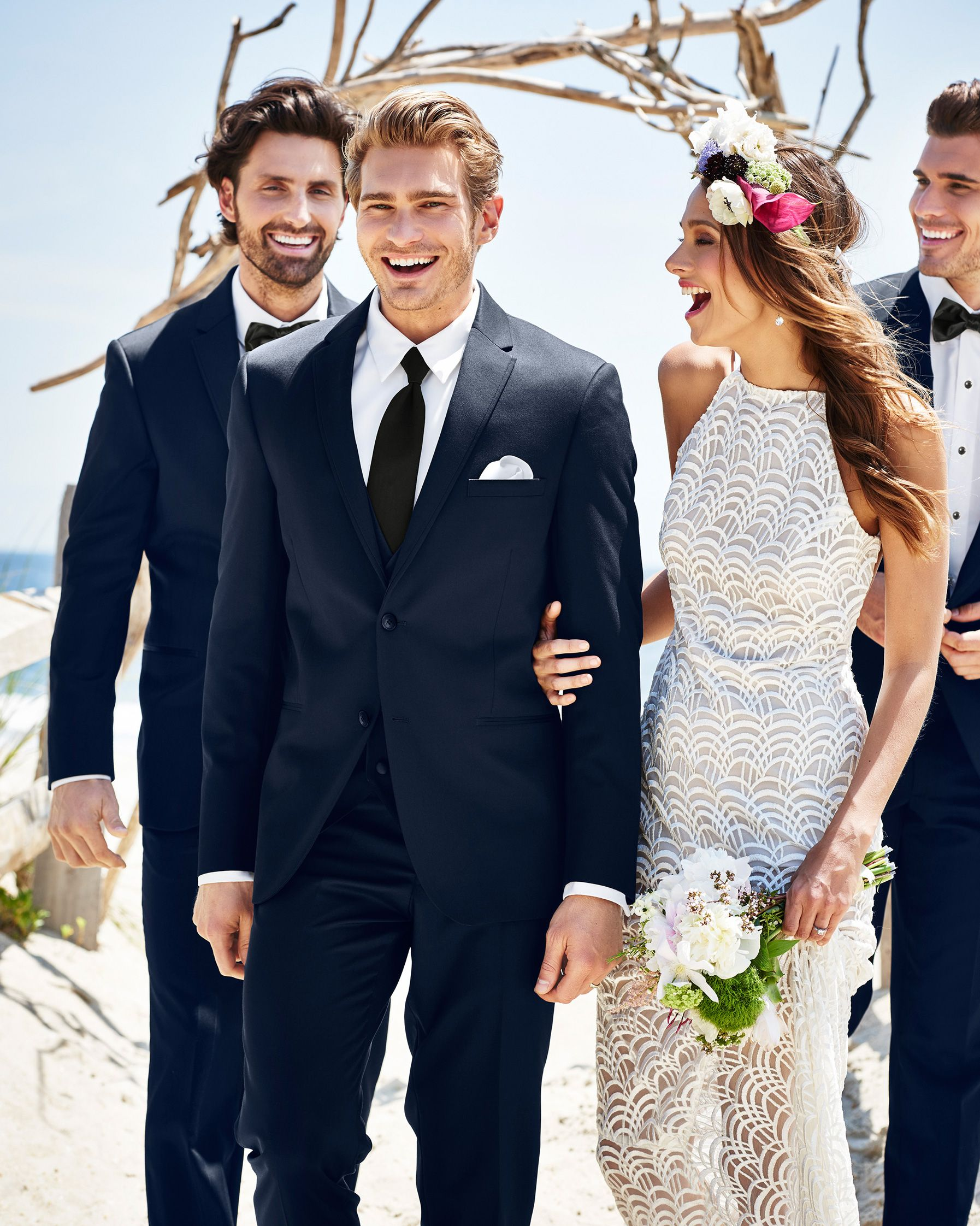 Navy Sterling Wedding Suit by Michael Kors. Available at Country ...