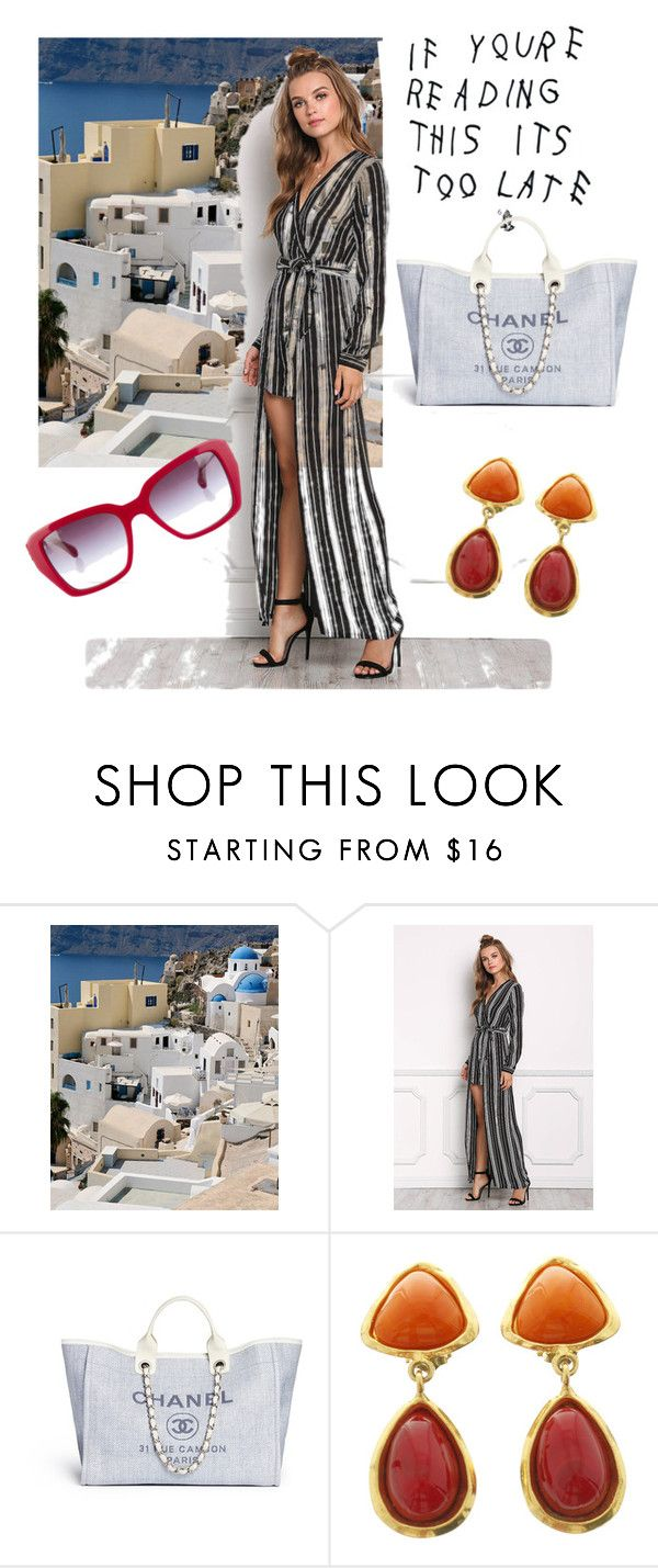 """""""Chanel's Stripes"""" by uknowbetter ❤ liked on Polyvore featuring Chanel"""