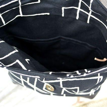 AILI-laukku, mustavalkokuvio | Weecos