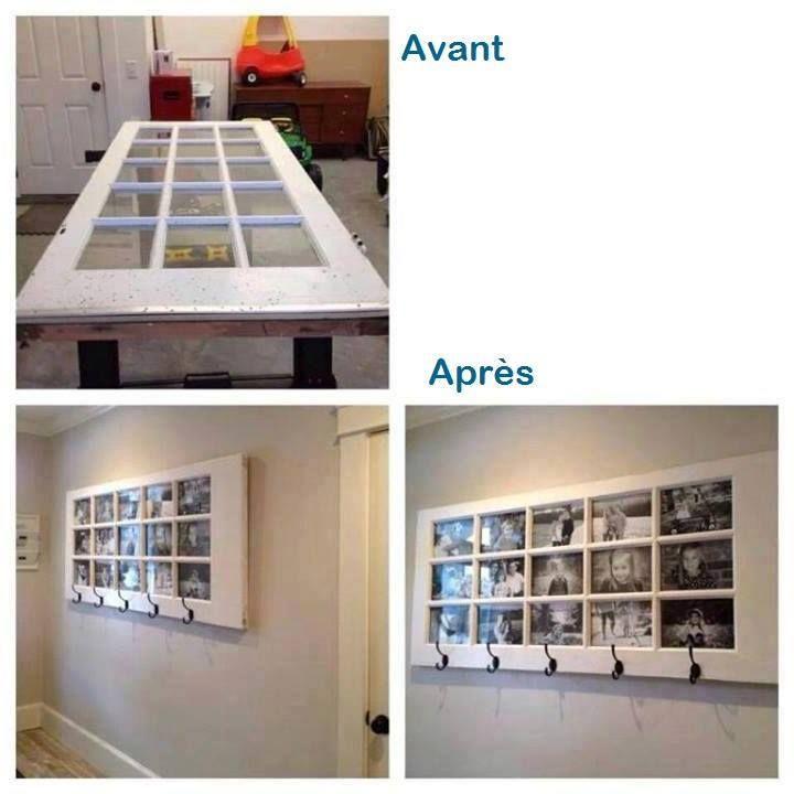 une porte vitr e peut se transformer en cadre g ant. Black Bedroom Furniture Sets. Home Design Ideas