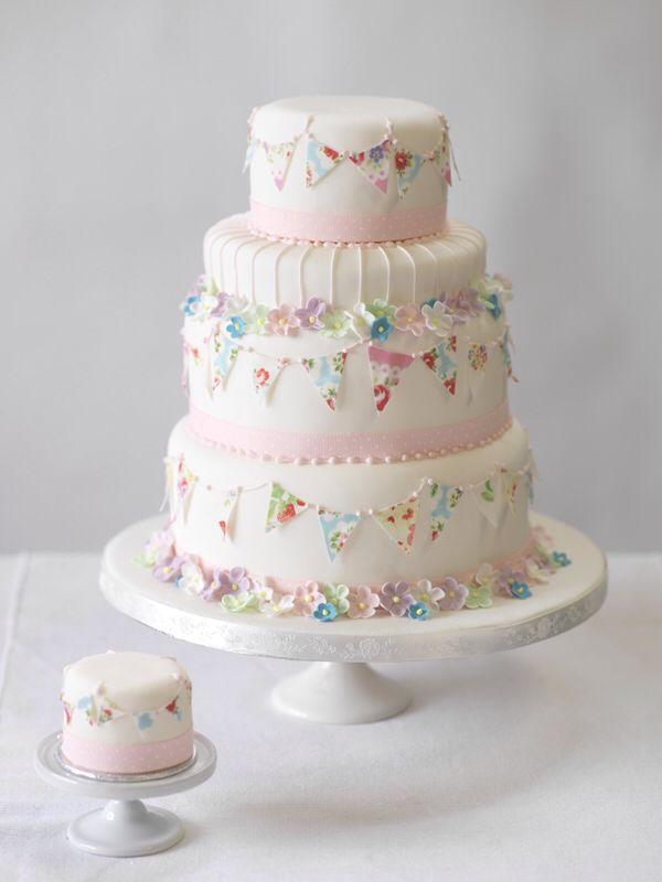 Bunting cake ideas Wedding Cakes Pinterest Buntings Cake and