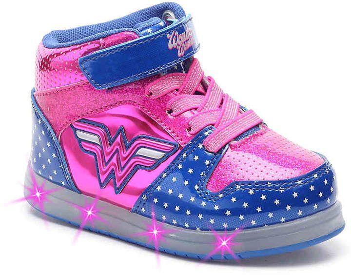 1ec1d3037857d1 Warner Bros Wonder Woman Toddler Light-Up High-Top Sneaker - Girl s  light  technology sneakers