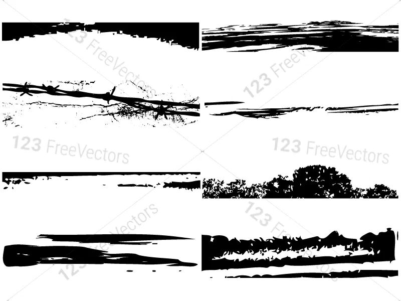Grunge Edges Vector And Photoshop Brush Pack 02 Photoshop Brushes Photoshop Grunge