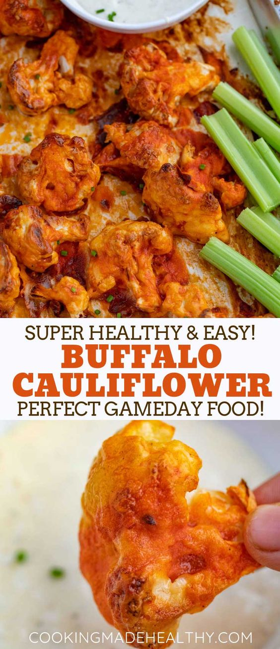 Buffalo Cauliflower is the PERFECT spicy Buffalo Cauliflower is the PERFECT spicy appetizer made with roasted cauliflower coated in a seasoned batter and spicy buffalo sauce, ready in 45 minutes!