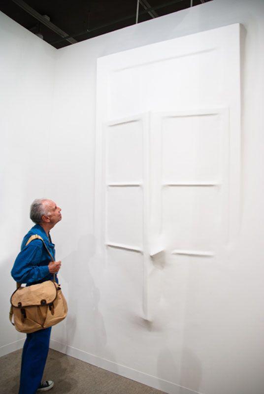 Loris Cecchini - Extruding Bodies - Gaps, 2006 (polyester resin, wall paint 310 x 165 x 25 cm each installation view C4-Centro Cultura del Contemporanea,Caldogno, Vicenza, Italy)