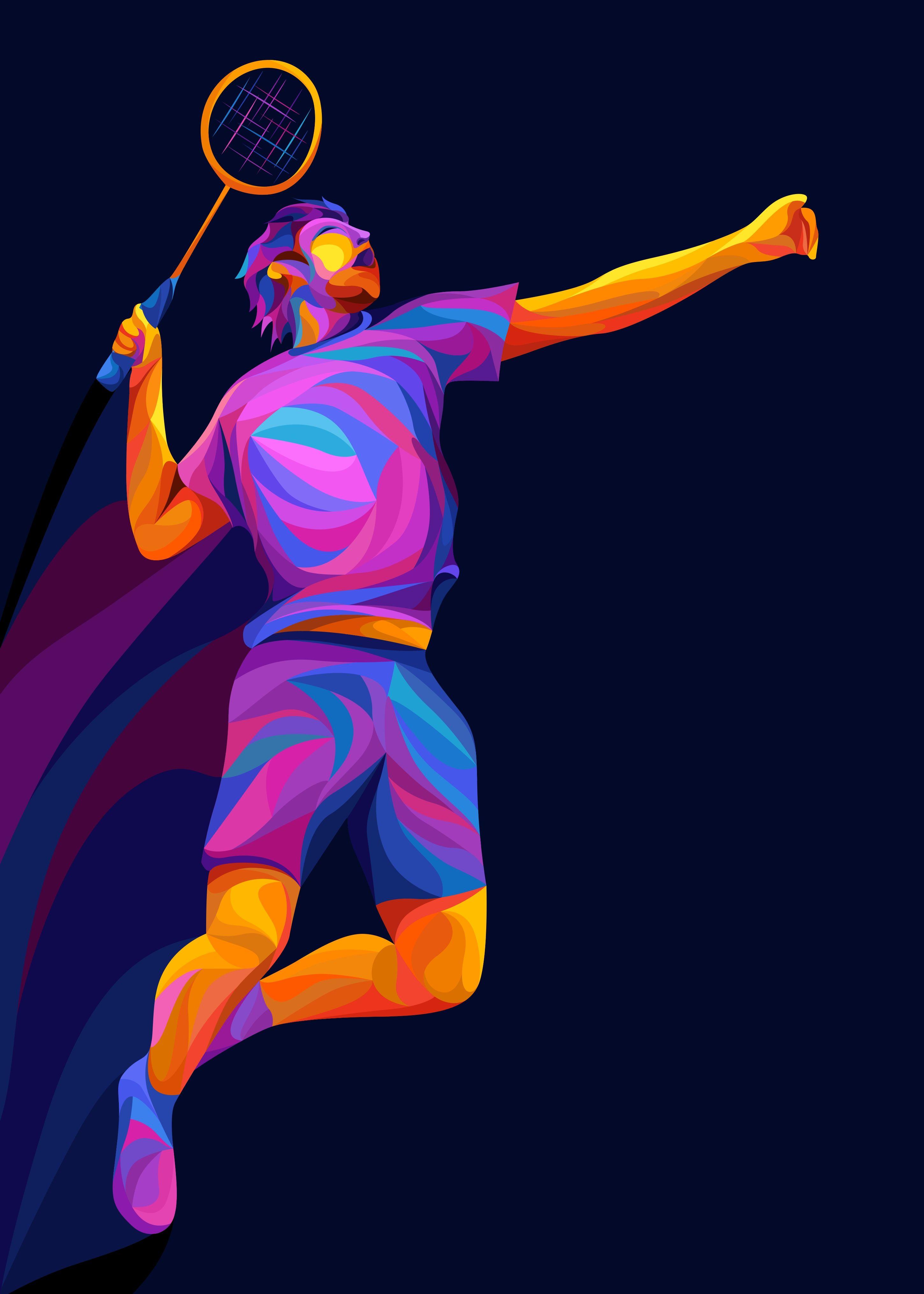 Badminton Poster Print By Dony Idham Sahadewa Displate In 2020 Badminton Sport Badminton Badminton Smash