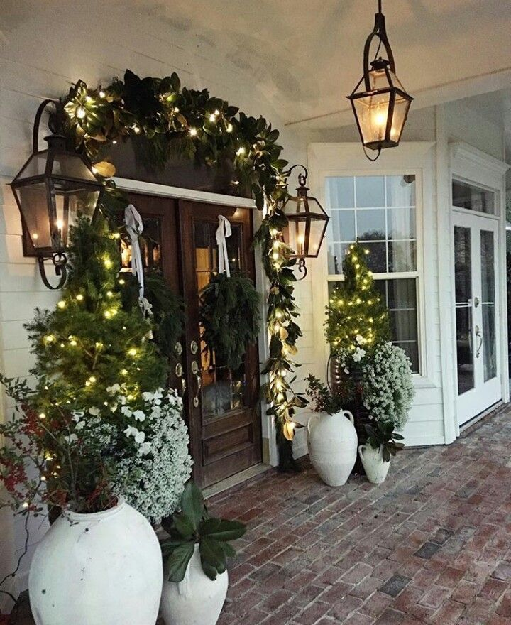57 Beautiful Outdoor Christmas Decorations - Blush & Pine