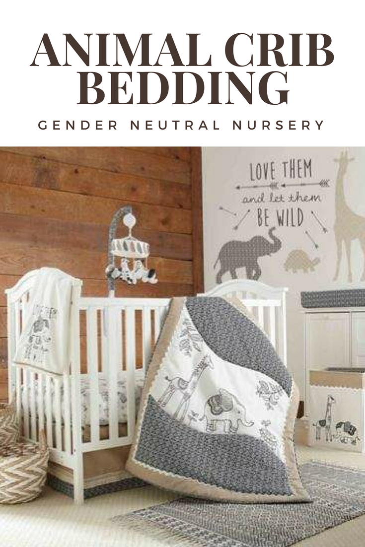Gender Neutral Nursery Grey Animal Crib Bedding Set Affiliate