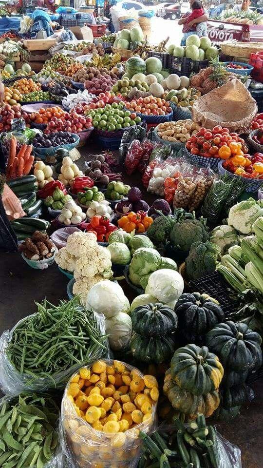 Mercado en Guatemala.