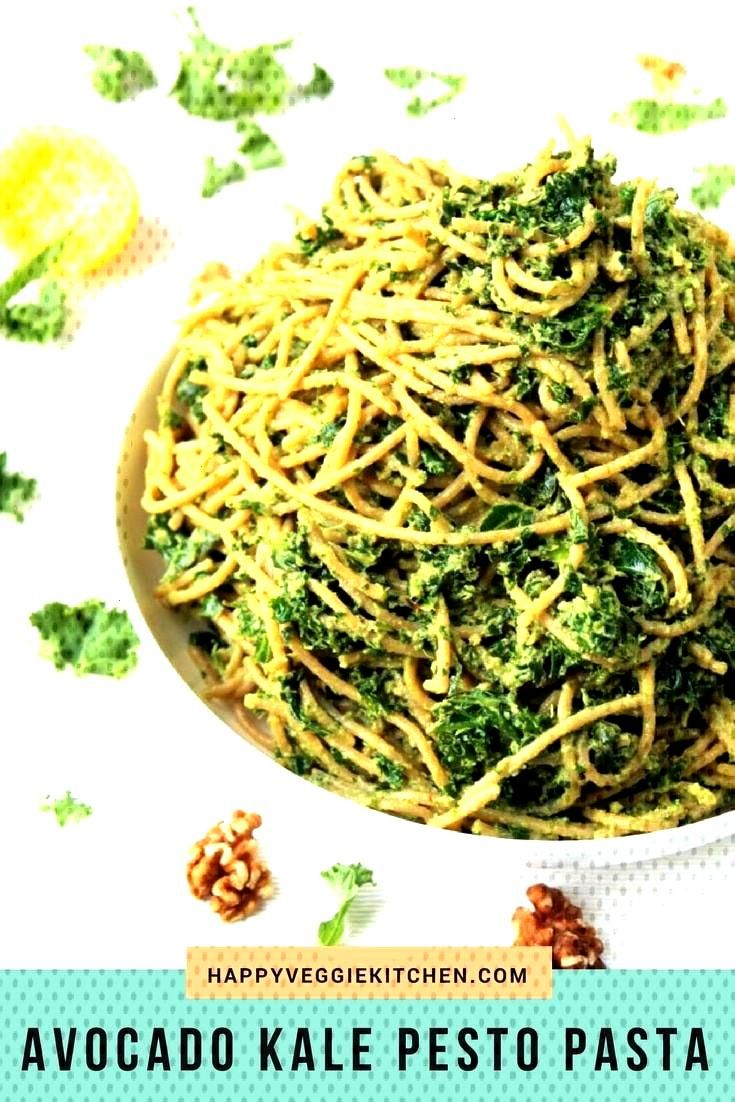 This quick, easy kale avocado pesto pasta is a deliciously simple recipe, with a creamy texture and