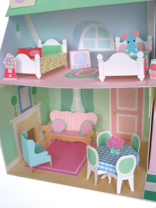 Dollhouse Furniture Printable Paper Craft Pdf Doll