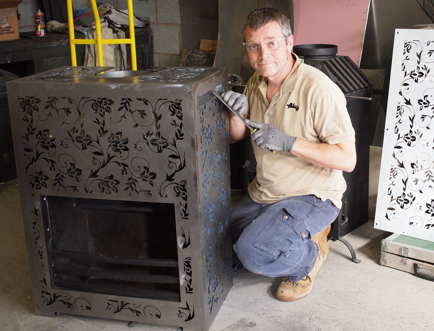 Me Putting Finishing Touches To A Fire Fireplace Fireplace Grate Real Fire